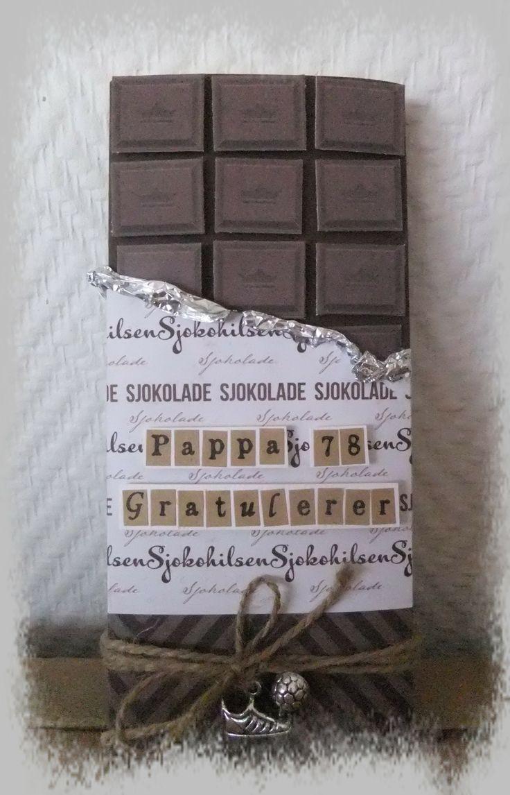 Sjokoladekort til pappa med sjokolade