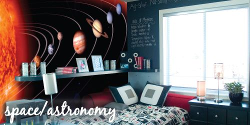 Space Murals Space Theme Bedroom Makeover Boys Girls Science Kidfolio The App For Parents