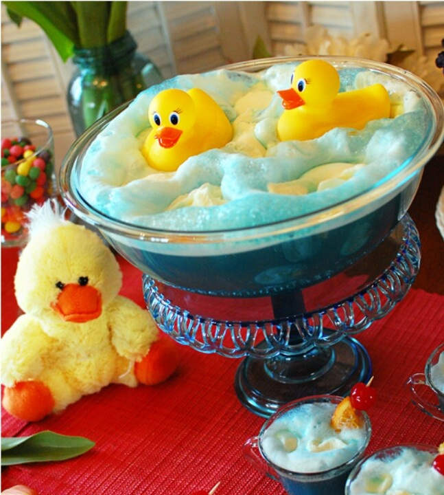 Rubber Ducky punch- super cute idea for a baby shower or birthday party!