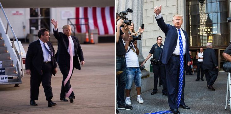 Twitter User Had Fun Photoshopping Images Of Donald Trump Wearing Really Long Ties
