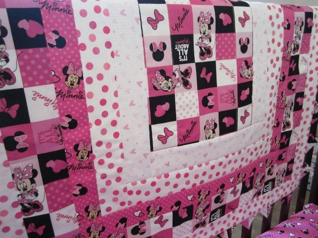 Custom Order Minnie Mouse Crib Set by QuiltingThyme on Etsy