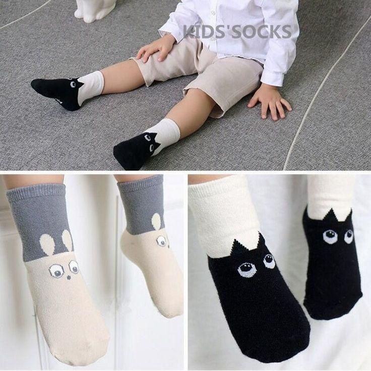 DHL EMS Free Shipping Baby Girls Boys New Children Socks Soft Cotton Infants Wear Socks Rabbit Cat 2 Colors Korea