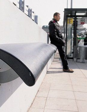 Standing seat by Concept Urbain. Click image for details & visit our Street Furniture board >> http://www.pinterest.com/slowottawa/street-furniture/