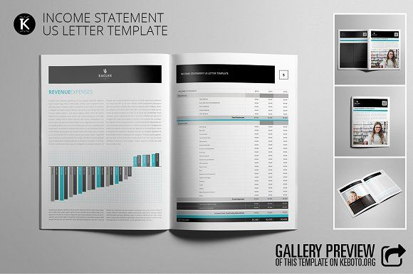 Income Statement USL by Keboto on @creativemarket