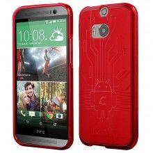 Forro HTC One M8 Cruzerlite Bugdroid Circuit Roja $ 37.800,00