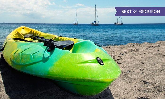Half Moon Bay Kayak Co. - El Granada: $35 for a 1-Hour Paddleboard or Single- or Double-Kayak Rental for 2 from Half Moon Bay Kayak ($65 Value)