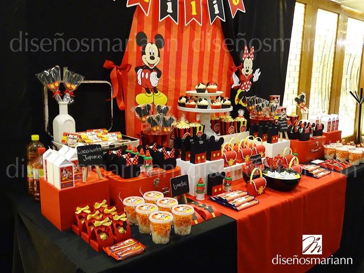 201 best mesas de dulces images on pinterest - Fiesta tematica mickey mouse ...