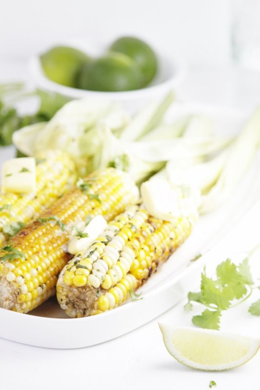 Grilled Corn with Tequila Lime Butter #recipe