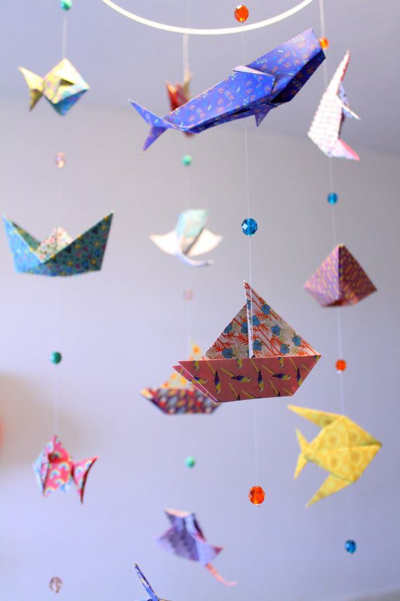 178 best mobiles b b origami images on pinterest babies for Sea animal baby mobile