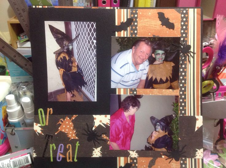 Trick or treat scrapbooking part 2