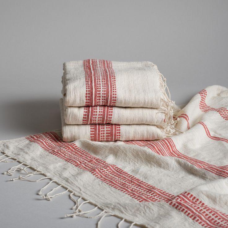 Fair Trade Ethiopian Bath Sheet [shopburkelman.com] Available in 4 color ways + matching hand towels #towels #fairtrade #african