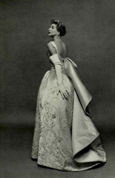 1956 - Jacques Fath evening gown,                              …
