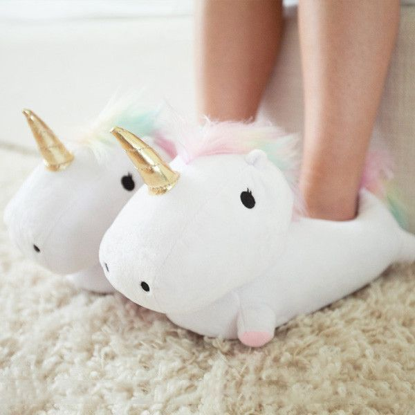 Unicorn slippers. We'll take ten pairs please. xx