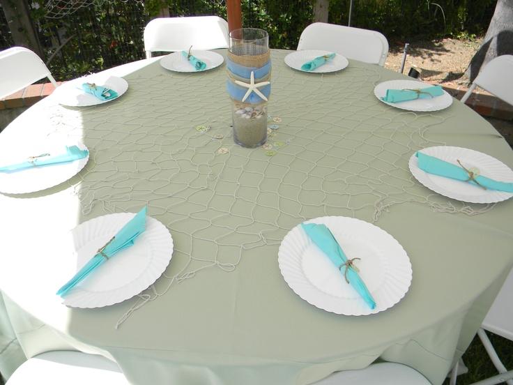 Beach Themed Table Setting.