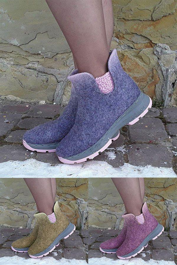 Frauen Winter Täglich Slip-On Stiefeletten