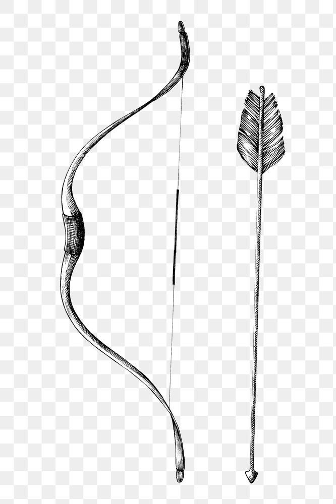 Hand Drawn Bow And Arrow Design Element Free Image By Rawpixel Com Bow Arrow Tattoos Arrow Tattoo Design Bow Tattoo Designs