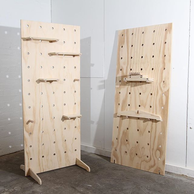 WEBSTA @ likebuttermelbourne - Flatpack Plywood Pegboards going out the door.