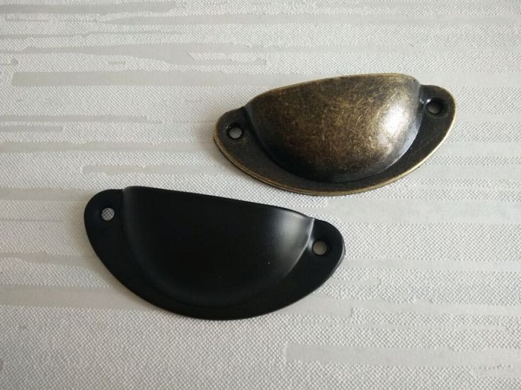 Cup Dresser Drawer Pulls Handles Bin Cabinet Retro Kitchen Handle Hardware Antique Bronze Black Steel Vintage Style by Anglehome on Etsy