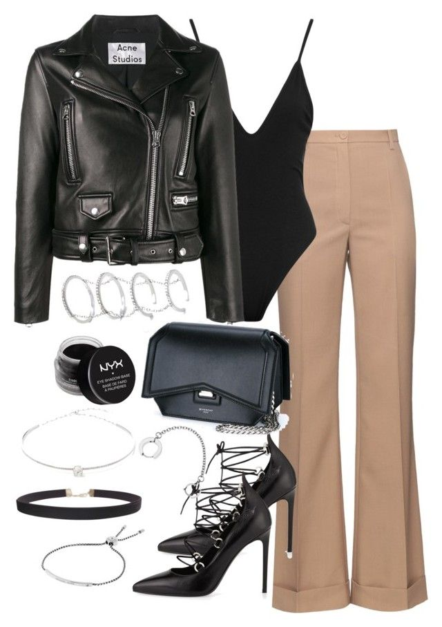 """""""Untitled #3457"""" by theeuropeancloset on Polyvore featuring Nina Ricci, Yves Saint Laurent, Acne Studios, Givenchy, Fallon, NYX, Jack Vartanian, Humble Chic and Michael Kors"""