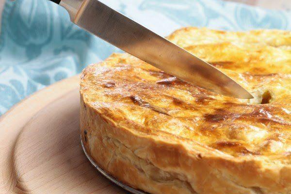 Hartige taart met kip, kerrie en appel – Koken met Anita