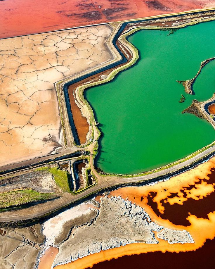 """Text below is from my artist statement about the San Francisco South Bay Salt Ponds project. Text part 5A of 5 """"Healing Landscape: A Damaged World in Transition"""" ____ What inspired me to spend an entire year dangling from a helicopter in frigid weather to make these images? In the end it was not just the searing colors and swirling patterns of the salt ponds themselves: it was watching the wildlife and waterfowl return to the area, once again thriving in this land in transition—from…"""