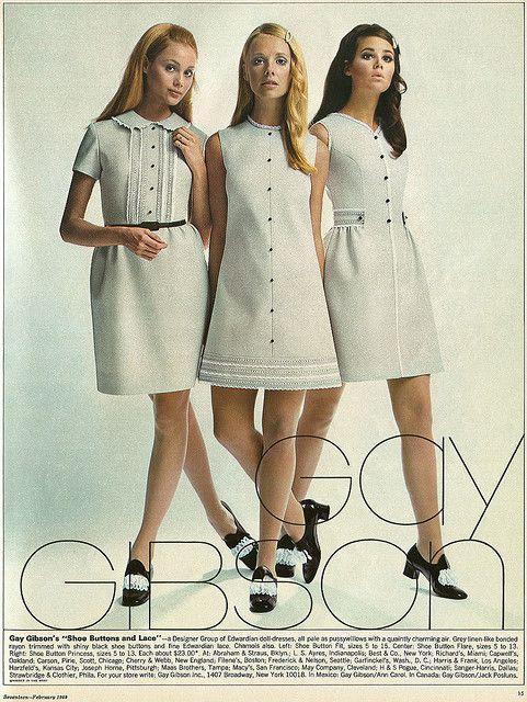 กรี๊สส น่ารักเว่อ >< Gay Gibson Mini Dresses 1960s