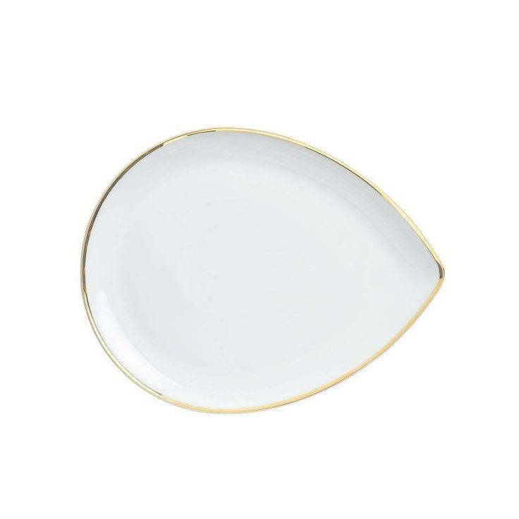 KAHLA półmisek łezka, porcelanowy 24 cm. Do naszej oferty porcelany dołącza ponownie marka KAHLA. W odświeżonej ofercie znajdziecie półmiski, talerze i filiżanki. Koniecznie sprawdź #cebulowywzor