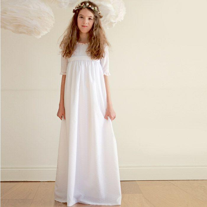 Vestido de comunión de plumeti de Belandsoph.com - Especial Primera Comunion - www.CharHadas.com