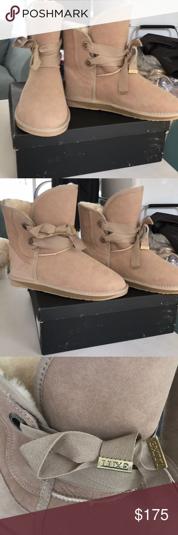 🇺🇸saleNew Australia Luxe Bedouin short boot 11 Beautiful new in box AUSTRALIA LUXE COLLECTIVE  Bedouin short boot in sand color size 11. Box has some damage *price firm Australia Luxe Collective Shoes Winter & Rain Boots