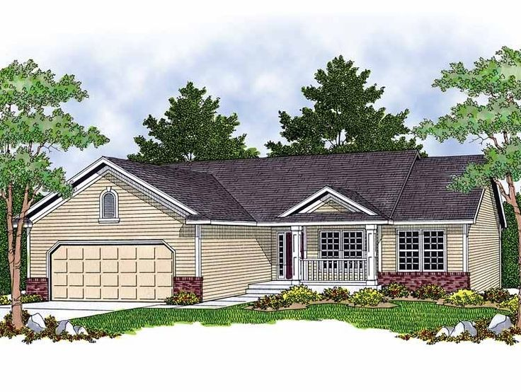 Bungalow house plans with basement and garage simple for Bungalow house plans with basement and garage