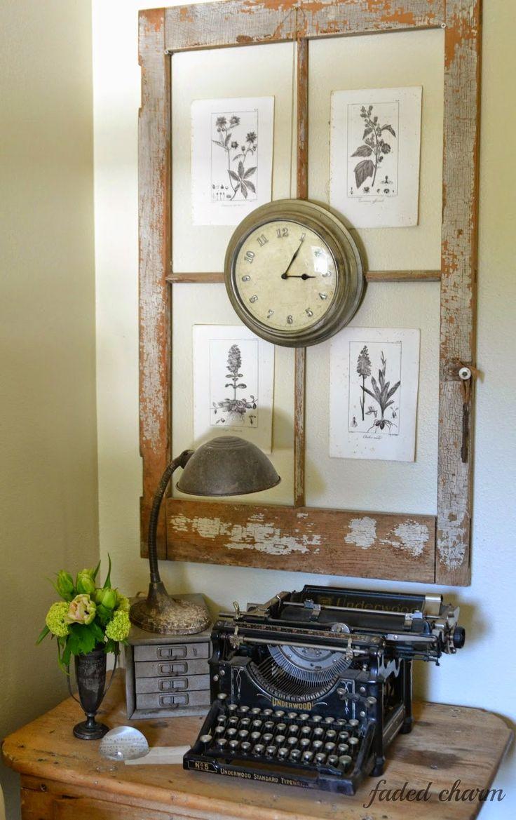 typewriter and botanicals in a corner