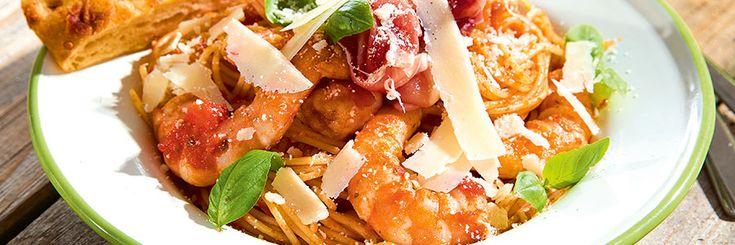 Recept - Pasta met scampi's