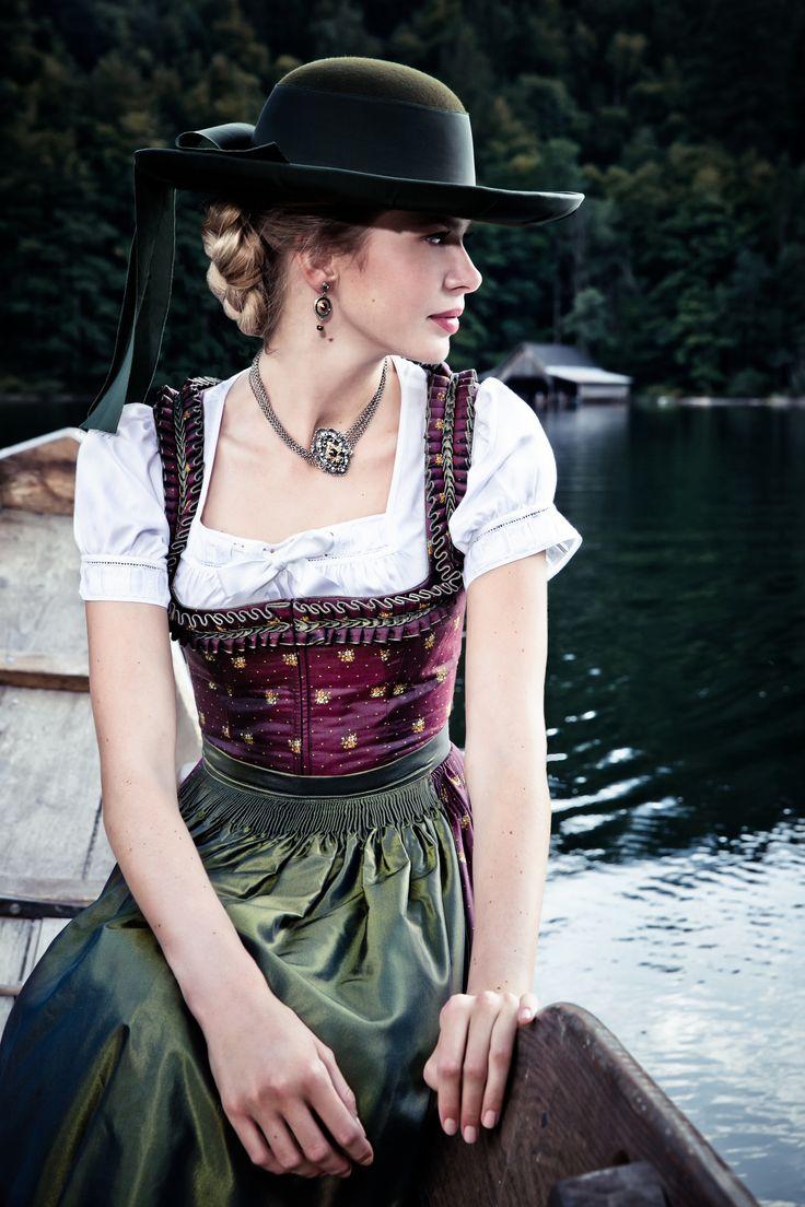 "Lena Hoschek Tradition A/W2014-15  ""Dirndl Clara"" und ""Dirndlbluse Lafnitz"" www.lenahoschek.com"