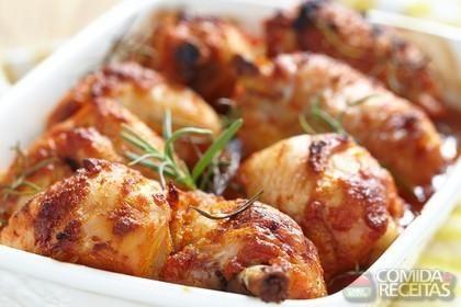 Receita de Frango assado com alecrim e curry em receitas de aves, veja essa e…