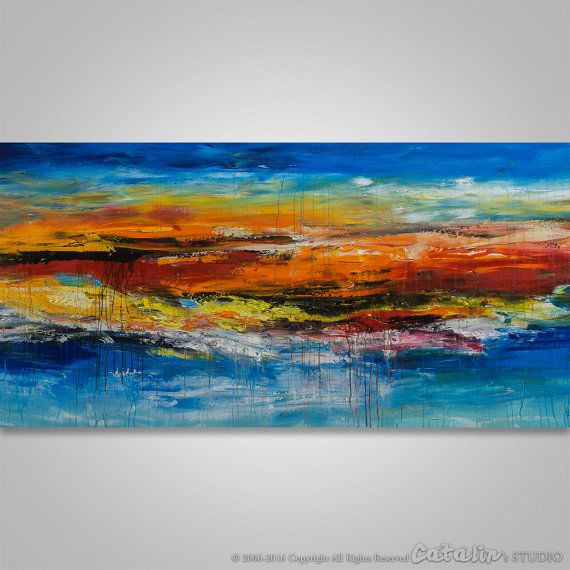 Abstract Wall Art Abstract Landscape Abstract Painting by Catalin