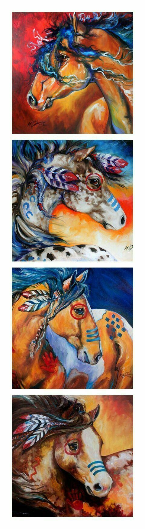 Hermosos caballos indios