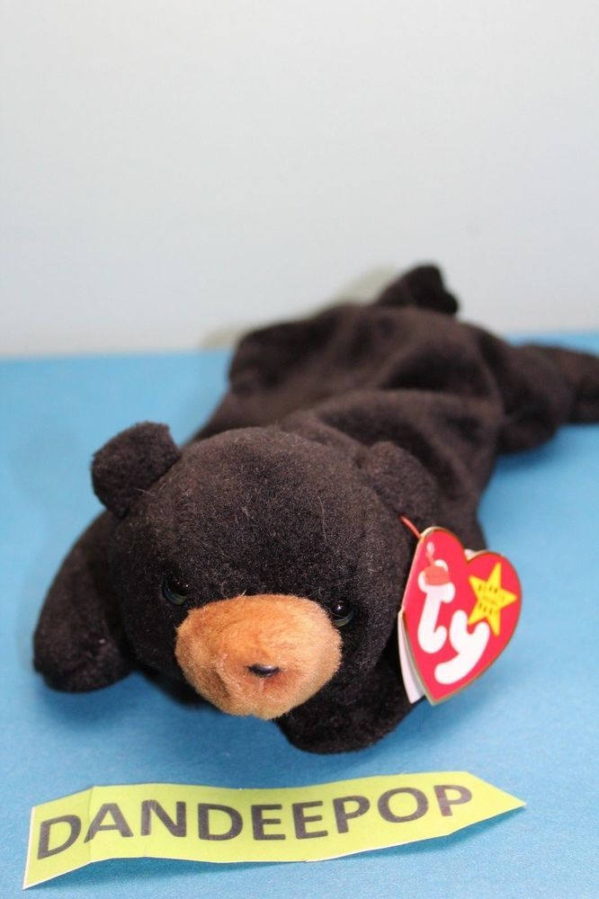 c8375839a38 TY Retired Beanie Baby Blackie Bear Style 401 1994 7