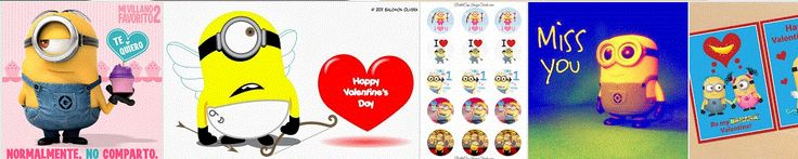 Minions para San Valentín, para Imprimir Gratis. http://www.ohmyfiesta.com/2014/01/minions-para-san-valentin.html