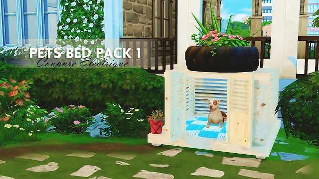Sims 4 CC's - The Best: PETS BED PACK 1 by Coupure Èlectrique