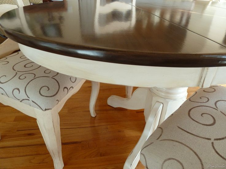 Drop Cloth Reupholstered Chairs - with Sharpie Designs - by Plum Doodles