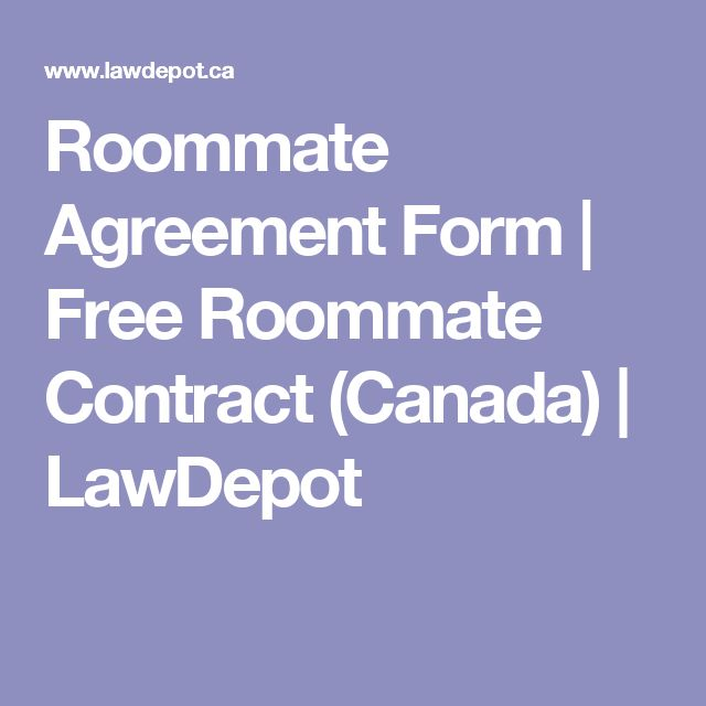 Roommate Agreement Form | Free Roommate Contract (Canada) | LawDepot
