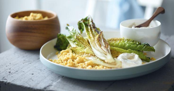 Découvrez la savoureuse recette du couscous végétarien au safran et crème d'ail