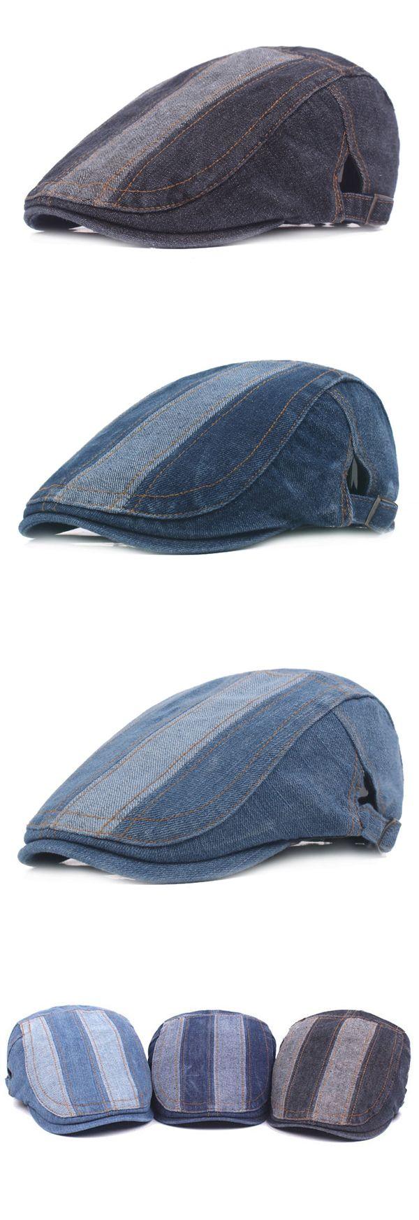 [$ 8.10]   Retro Washed Denim Beret Cap Casual Travel Sunscreen Forward Hat For Mens Women http://www.99wtf.net/men/mens-fasion/ideas-choosing-mens-outfit-colors-mens-fashion-2016/