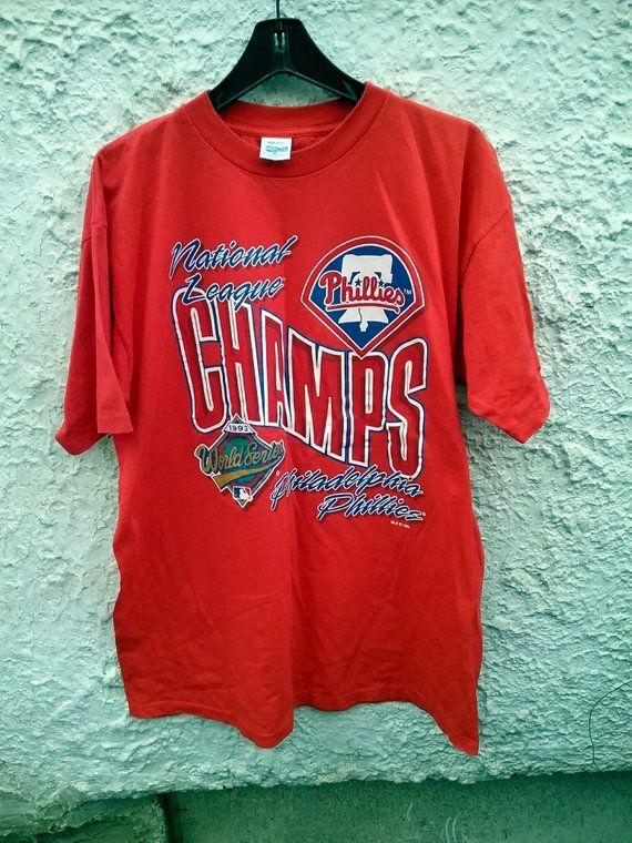 76fd2541088 1993 Philadelphia Phillies National League Champions t shirt UNWORN Size  adult XL  forsale  vintage  vintagetee  vintageclothing  vintageshop   vintageshirt ...