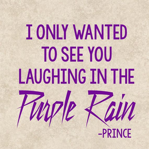 Decal Sticker Prince Purple Rain Song Quote by TheHenCompany
