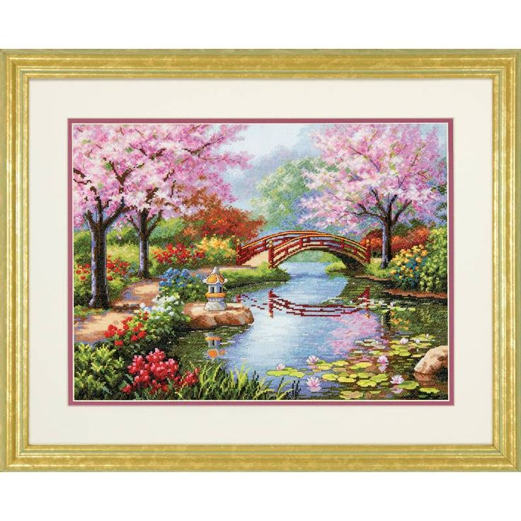Dimensions Cross Stitch Pattern Japanese Garden