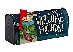 Evergreen Snow Country Nylon Magnetic Mailbox Cover for Standard Sized Mailboxes