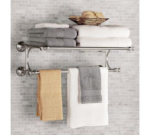 For Nantucket bathroom over toilet, picture above Mercer Train Rack | Pottery Barn