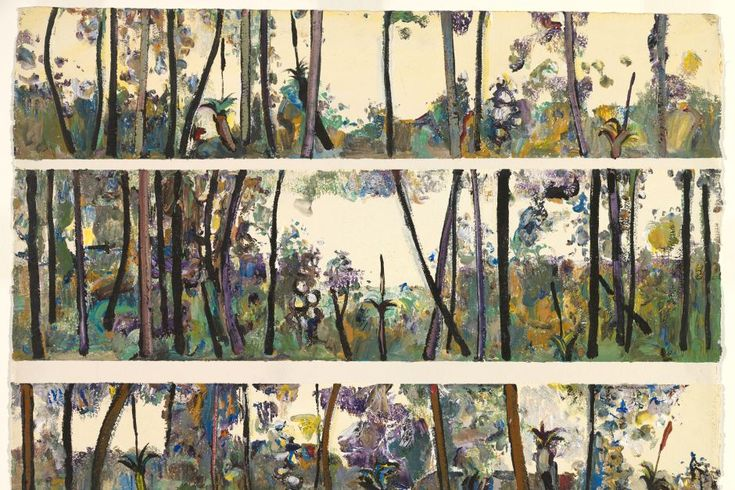 Fred Williams' gouache watercolour Springbrook, Queensland III (1971)
