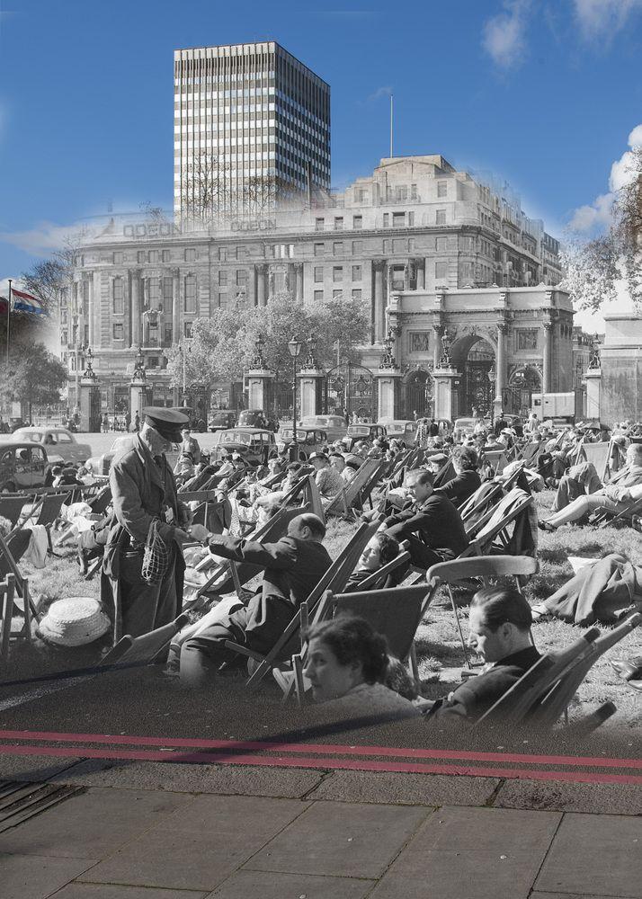 Londres antes y ahora Marble Arch